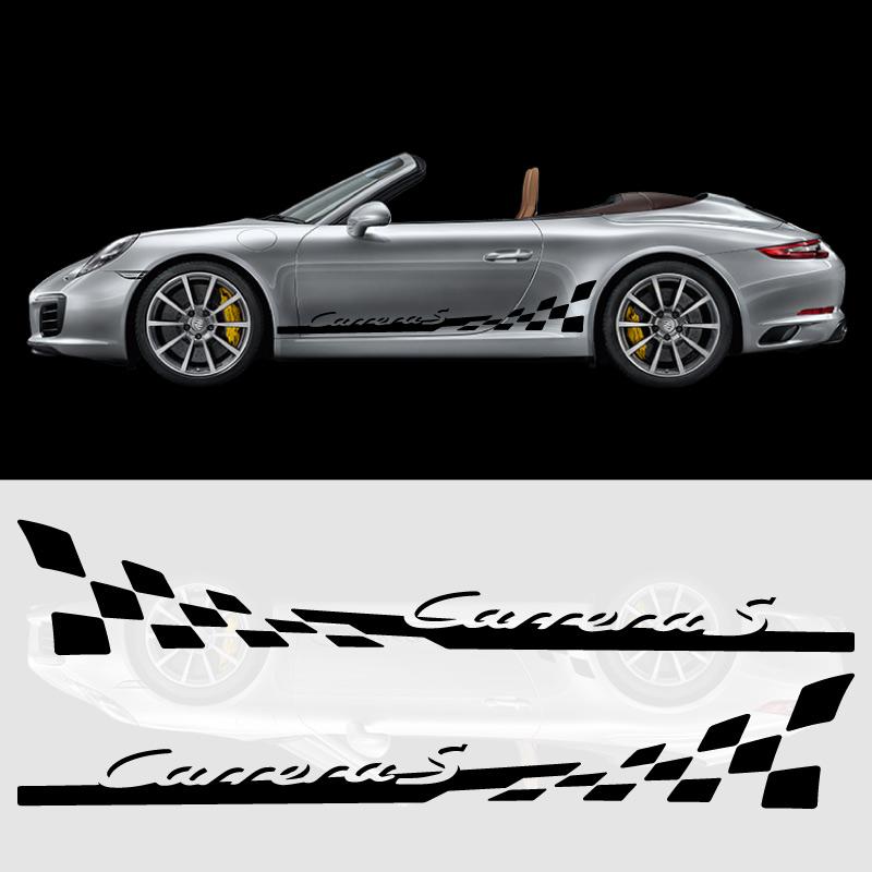 Porsche 911 Carrera S Car Stripes Decals