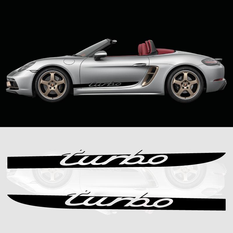 Porsche Boxster Turbo Car Side Stripes Decals Set
