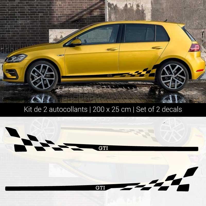 Volkswagen Golf GTI Side Stripes Decals Set