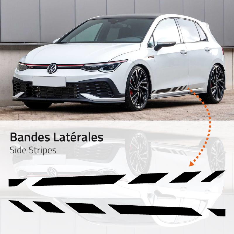 Volkswagen Golf 8 Side Stripes Decals