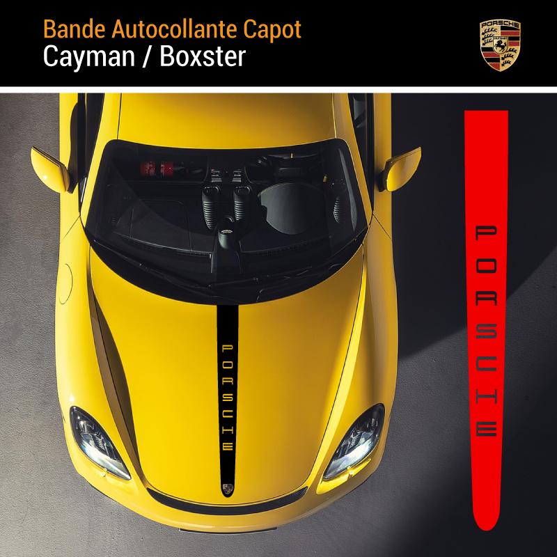 Porsche Cayman / Boxster Motorhaube Streife Aufkleber