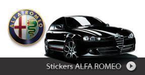 Stickers ALFA ROMEO, autocollant auto