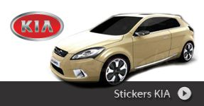 Stickers autocollants KIA MOTORS