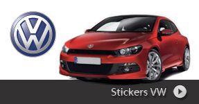 Stickers autocollant VW VOLKSWAGEN, autocollant personnalisé