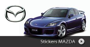 Stickers MAZDA autocollants à personnaliser