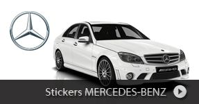 Stickers Mercedes  Benz autocollants