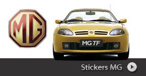 Stickers MG autocollants à personnaliser