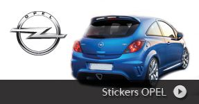 Stickers OPEL autocollants à personnaliser