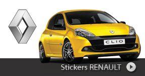 Stickers RENAULT autocollants à personnaliser