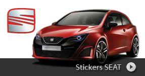 Stickers SEAT autocollant personnalisé