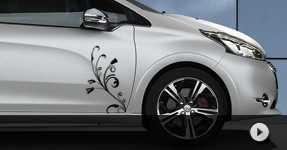 Autocollant décoratif Peugeot 208 stickers à personnaliser
