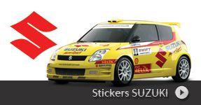 Stickers SUZUKI auto, autocollant pour personnaliser votre voiture