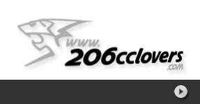 STICKERS 206 cc Lovers autocollant personnalisé