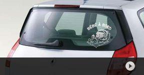 Stickers auto Bébé à Bord Autocollant personnalisé avec son prénom