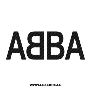 Sticker Carbone ABBA
