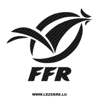 FFR France Rugby Logo Carbon Decal