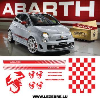 Fiat 500 Abarth Esseesse STICKERS KIT