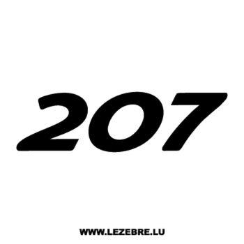 Sticker Peugeot 207