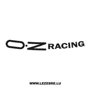 Sticker Carbone jante OZ Racing