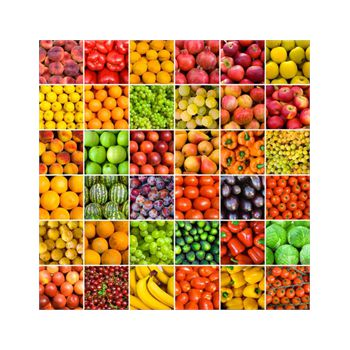 Decoration Sticker Rainbow fruits and vegetables