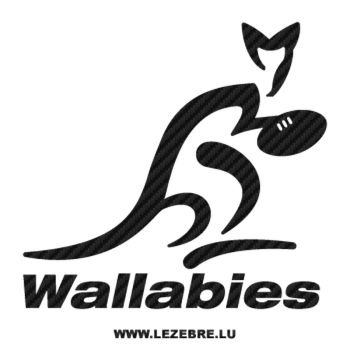 Australia Wallabies Rugby Logo Carbon Decal