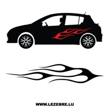 > Sticker Deco Flamme Auto 3