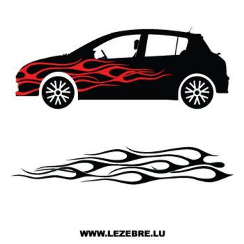 > Sticker Deco Flamme Auto 4