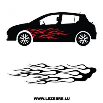 > Sticker Deco Flamme Auto 5