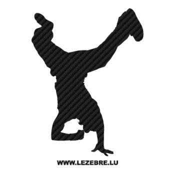 Sticker Carbone B-Boy Breakdance