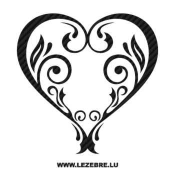 Vintage Heart Carbon Decal