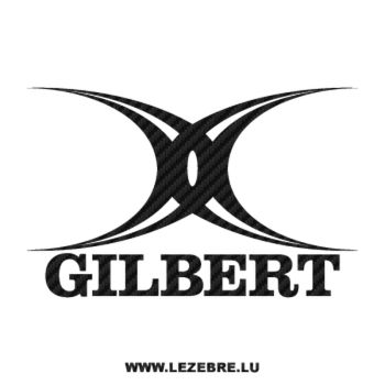 Gilbert Rugby Logo Carbon Decal