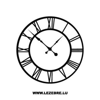 Sticker Horloge