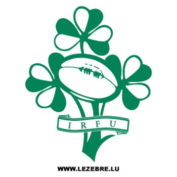IRFU Irland Rugby Logo Decal