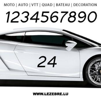 Set of 2 Numbers Custom Decals