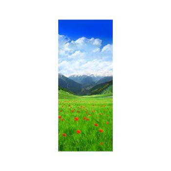 Sticker Géant Montagne Champs Fleuri