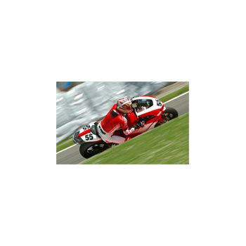 Motorcyclists in the Race Decoration Decal