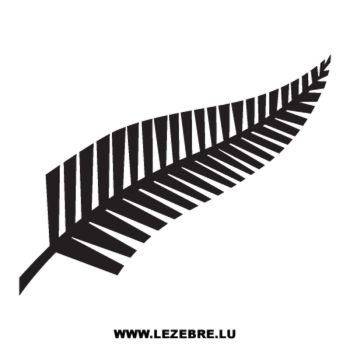 > Sticker New Zealand NZRU Fern Rugby Logo