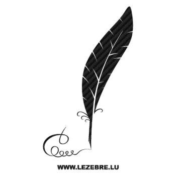Sticker Carbone Plume Écriture Calligraphique