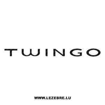 Renault Twingo Logo Carbon Decal 2