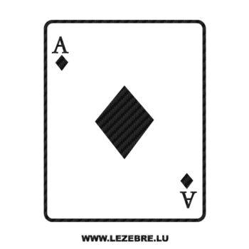 Sticker Carbone Carte AS de Carreau