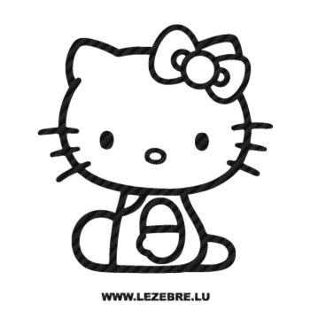 Sticker Carbone Deco Hello Kitty Assis