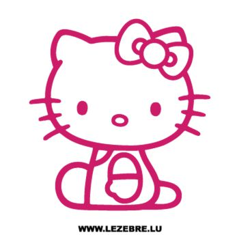 Seated Hello Kitty Decal