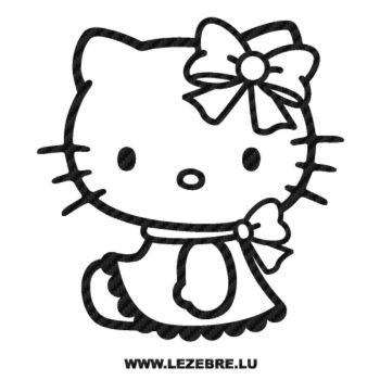 Sticker Carbone Deco Hello Kitty Lacet