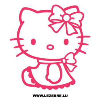 Sticker Deco Hello Kitty Lacet