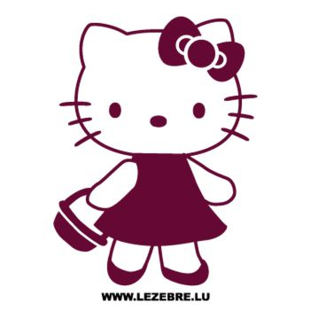 Sticker Deco Hello Kitty Panier