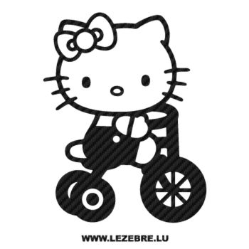 Sticker Carbone Deco Hello Kitty Vélo
