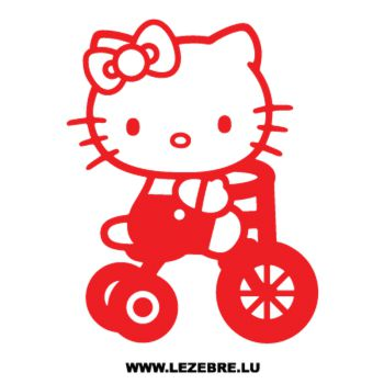 Sticker Deco Hello Kitty Vélo