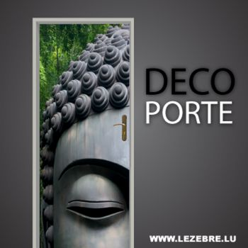 Buddha Door Decal