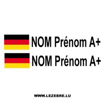 2x German Flag Pilot / Co-pilot Custom Decals