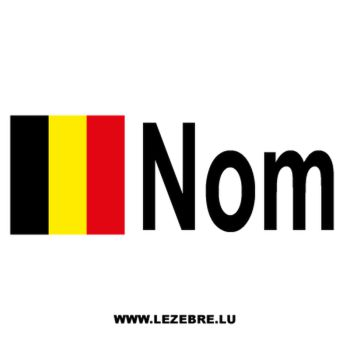 2x Belgian flag pilot name custom decals